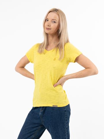 Женская футболка «Великоросс» желтого цвета