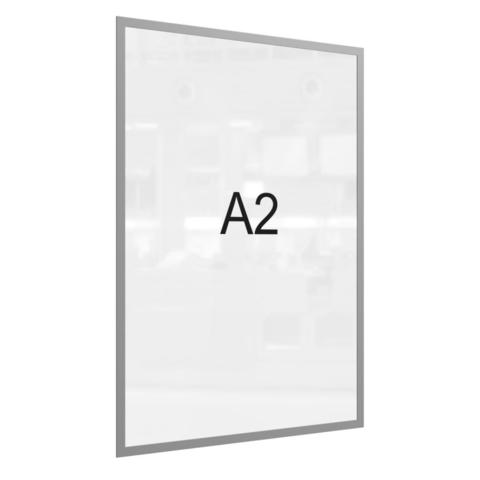 Рамка магнитная настенная Attache А2 ПЭТ, серая, 5 шт/уп