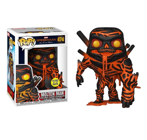 Фигурка Funko POP! Bobble: Marvel: Spider-Man: Far From Home: Molten Man (GW)(Exc) 39210