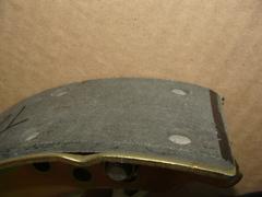 колодка тормозная 3163,2363 зад. длин. левая (РК DYMOS) ТИИР-420