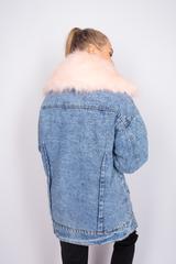 теплая джинсовая куртка с мехом купить