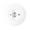 Светодиодный круглый встраиваемый аварийный светильник с оптикой для путей эвакуации Starlet White LED SC – вид в потолке