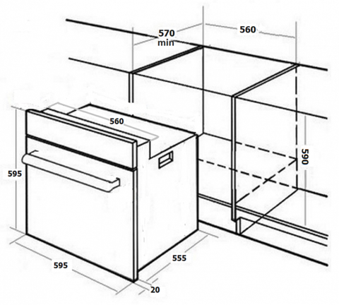 Духовой шкаф MONSHER MOE 6181 X
