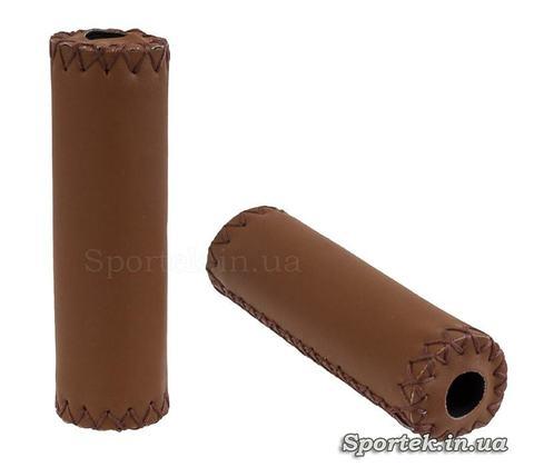 М'які коричневі гріпси обшиті шкірзамінником