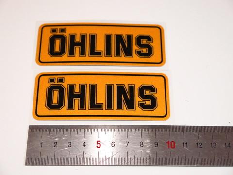 Наклейки для амортизатора Ohlins пара 10см оранжевые