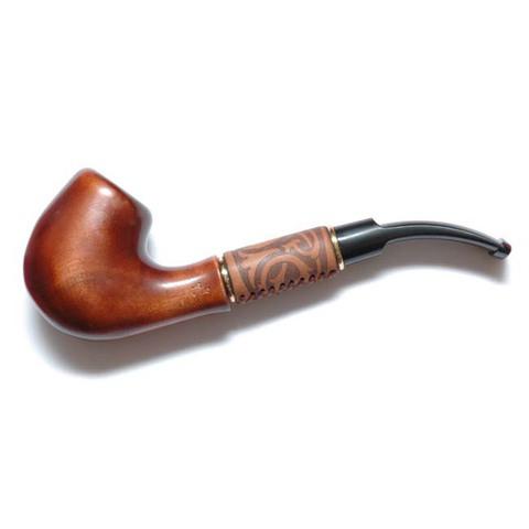 Курительная трубка Бент в коже 11026A4