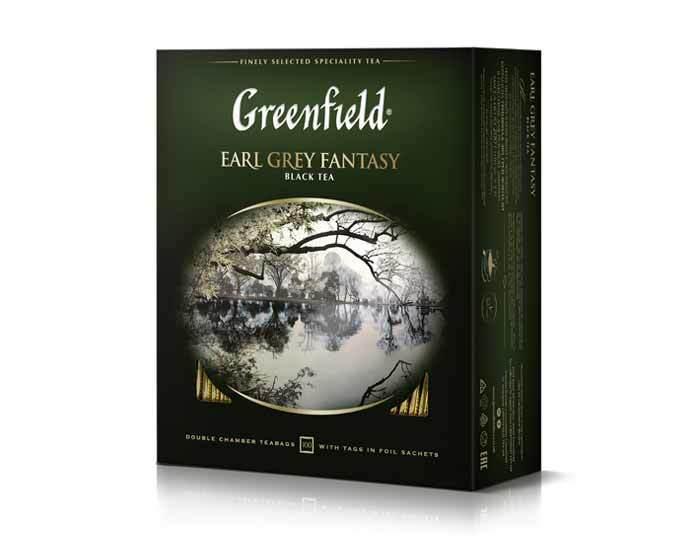 Чай черный в пакетиках из фольги Greenfield Earl Grey Fantasy, 100 пак/уп