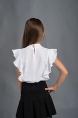 Алина. Нарядная блуза с воланами. Белый