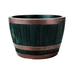 Кашпо пластиковое имитация бочки Stewart Blenheim Half Barrel 22L