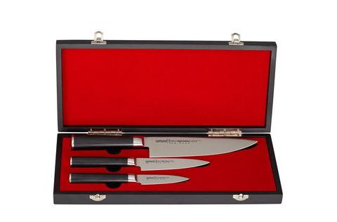 SM-0220/G-10 Набор из 3 ножей в подарочной коробке Поварская тройка Samura Mo-V