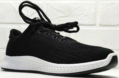 Черные женские кроссовки с белой подошвой Fashion Leisure QQ116.