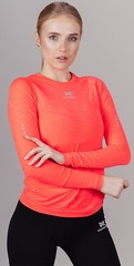 Элитная беговая футболка с длинным рукавом Nordski Pro Coral W Женская