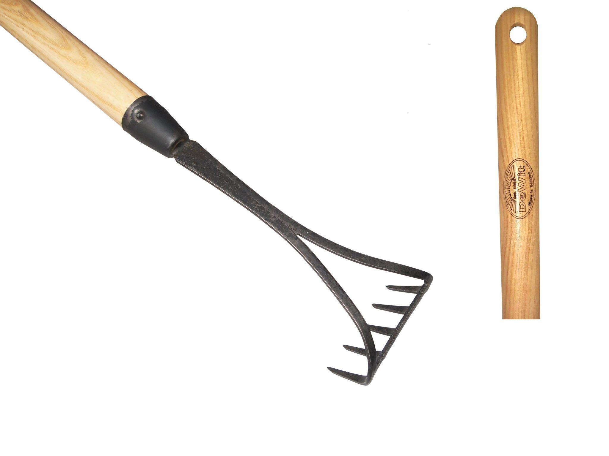 Грабельки ручные DeWit 5 зубцов рукоятка из ясеня 1400мм