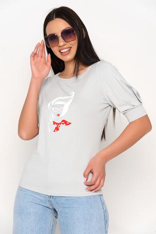 <p>Оригинальная футболка с модным принтом. Отличный вариант для летних прогулок.&nbsp;</p>