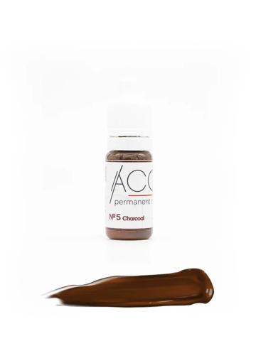 """Пигмент для бровей """"ACCENT"""" №5 Charcoal (древесный уголь)"""