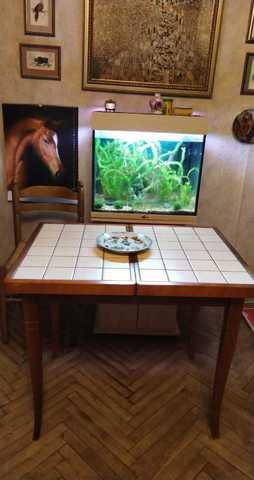 Кухонный  обеденный стол с керамической плиткой