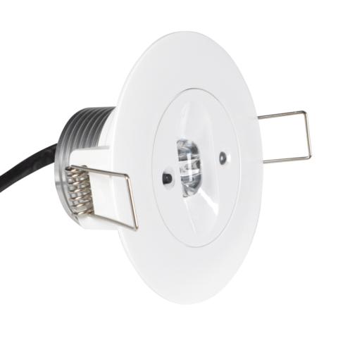 Круглый встраиваемый светодиодный аварийный светильник для коридоров Starlet White LED SC Intelight