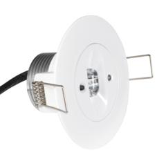 Круглый встраиваемый светодиодный аварийный светильник для путей эвакуации Starlet White LED SC Intelight