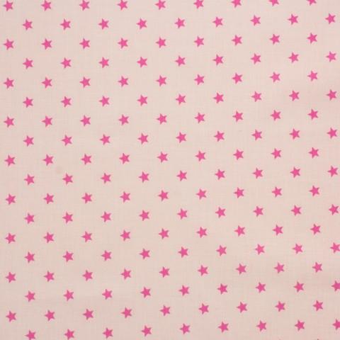 Ткань хлопковая яркие звезды  на розовом, отрез 50*80 см