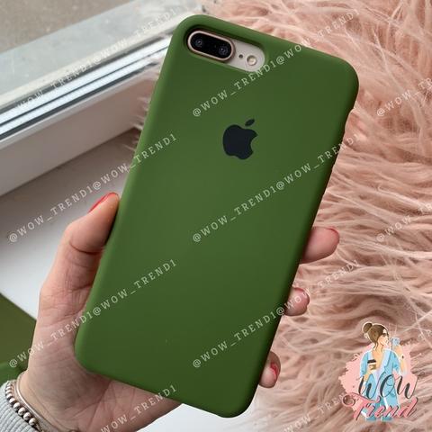 Чехол iPhone 7+/8+ Silicone Case /olive/ оливка 1:1