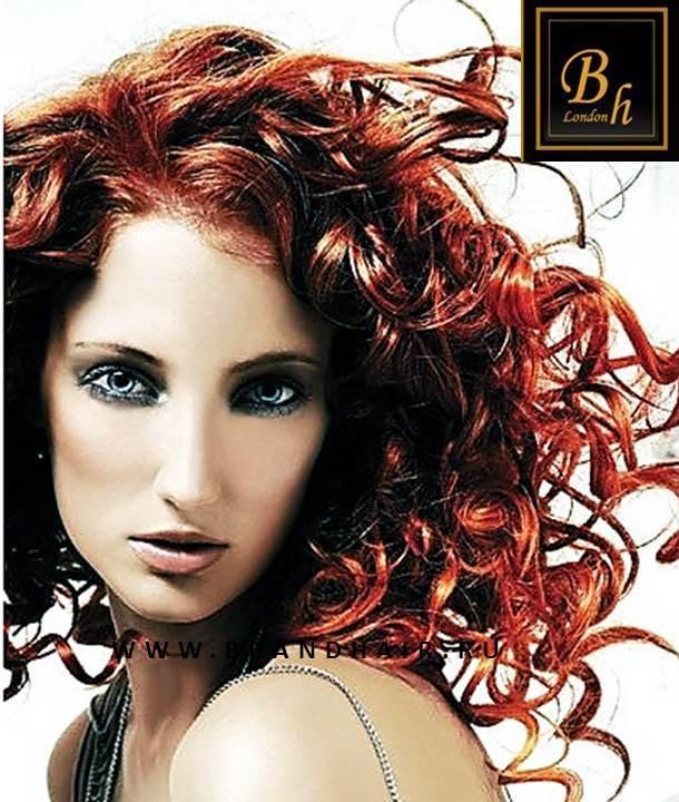 Вьющиеся волосы оттенок #1005-огненный рыжий-52 см