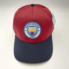 Кепка с логотипом ФК Манчестер Сити (Бейсболка FC Manchester City) красная 001