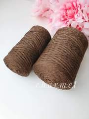 Шоколадная мечта Лайт  3 мм Полиэфирный шнур с люрексом