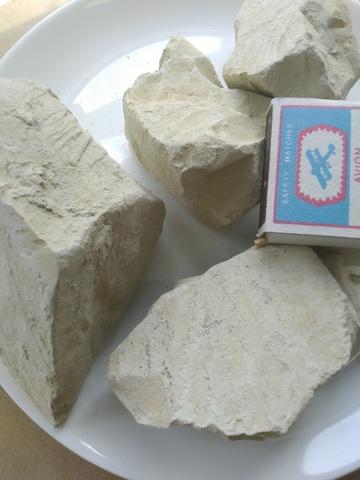 Уральская желтая глина нечищенная
