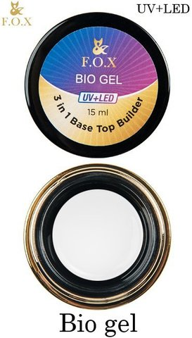 Универсальный гель F.O.X Bio gel (3 in 1 Base/Top/Builder) UV+LED