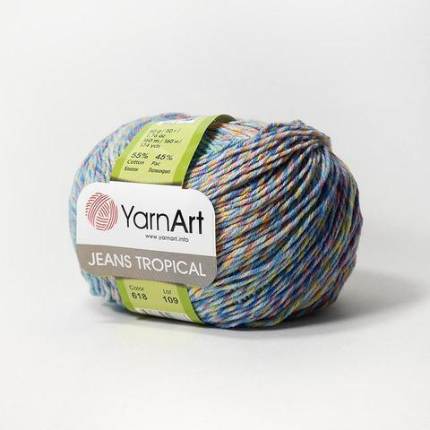 Пряжа YarnArt Jeans Tropical цвет 618