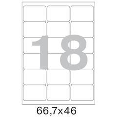 Этикетки самоклеящиеся Office Label белые 66.7х46 мм (18 штук на листе А4, 100 листов в упаковке)