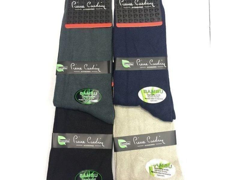 Мужские носки Pierre Cardin бамбуковые серые Н_168