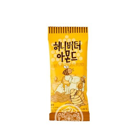 Миндаль обжаренный Toms Honey Butter с медово-сливочным вкусом 30г Корея