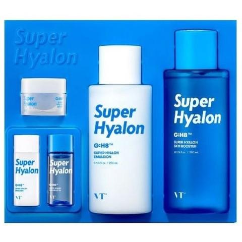VT Cosmetics Super Hyalon Skin Care Set набор увлажняющих средств с 8 типами гиалуроновой кислоты