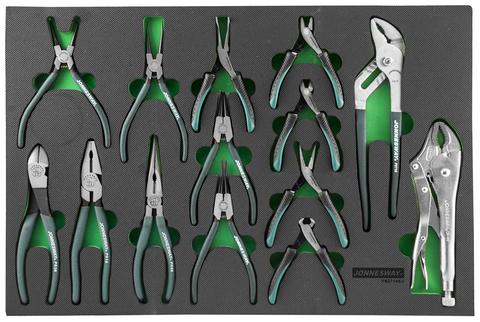 P82714SV Набор шарнирно-губцевого инструмента в ложементе EVA 560х400 мм, 14 предметов
