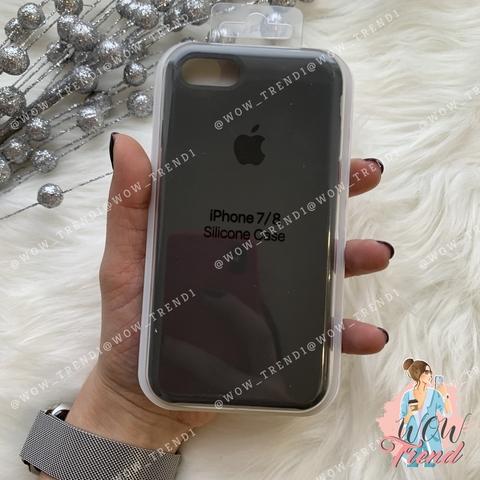 Чехол iPhone 7/8 Silicone Case /dark olive/ темная оливка 1:1