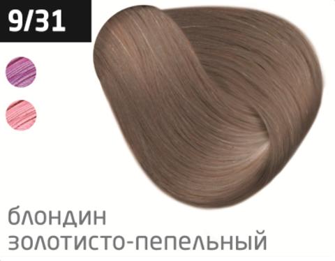 OLLIN color 9/31 блондин золотисто-пепельный 100мл перманентная крем-краска для волос