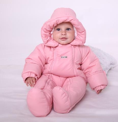 Зимний комбинезон для новорожденных Вьюга (розовый)