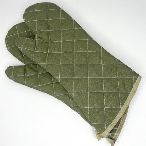 Перчатка кухонная Х/Б зеленая