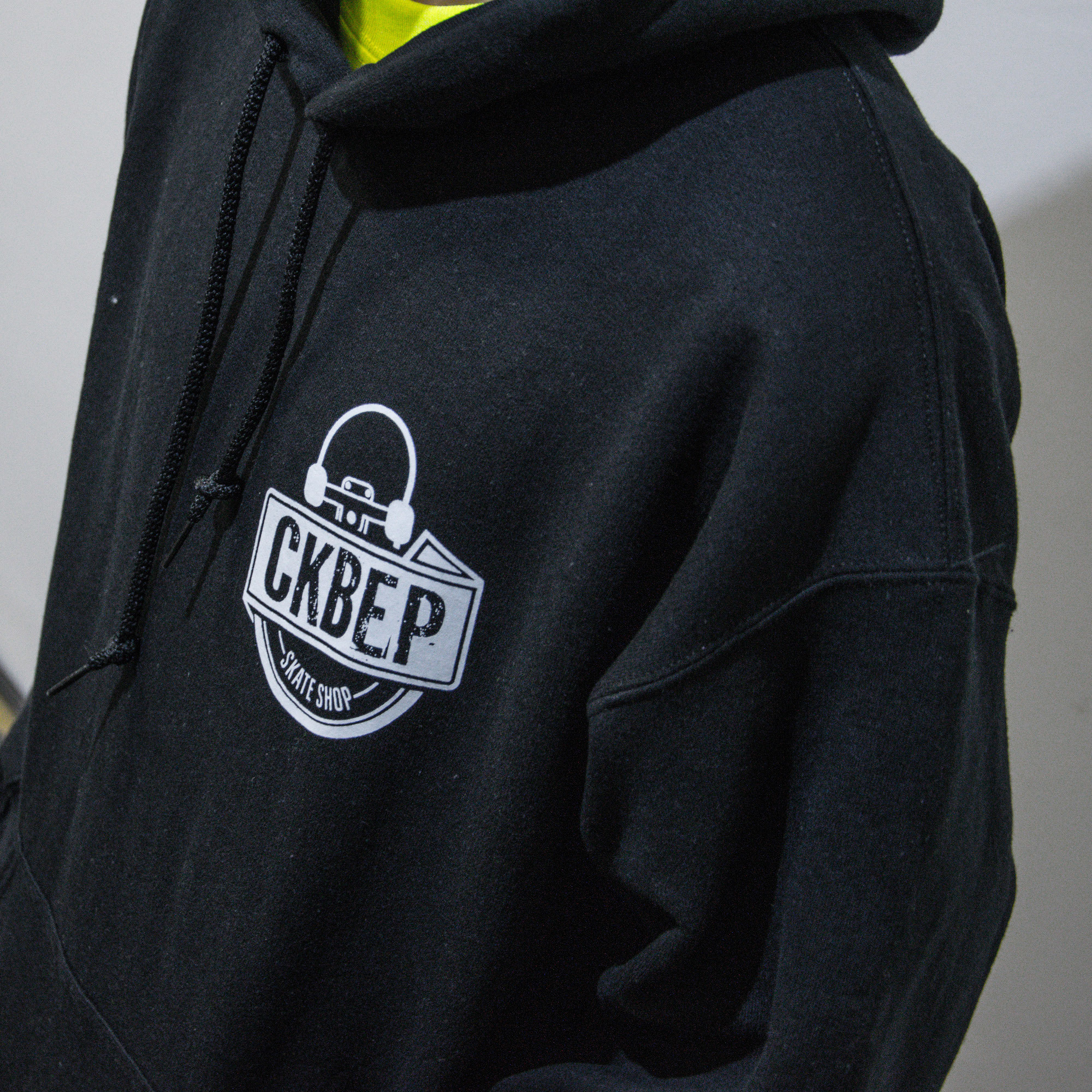 Толстовка с капюшоном СКВЕР Лого (Чёрная)