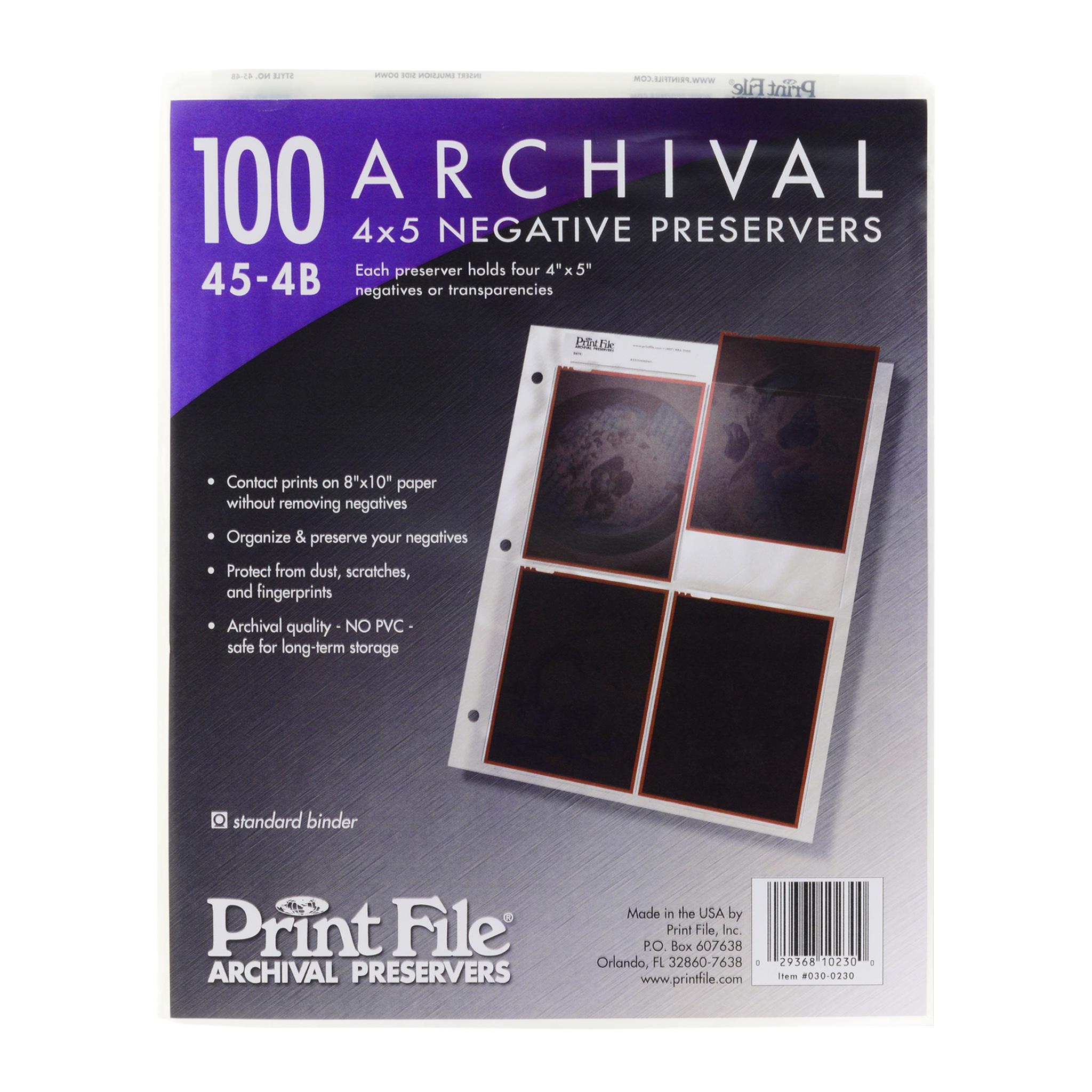 Файлы PrintFile для листов 4x5
