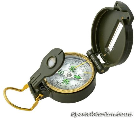 Туристический магнитный компас с линзой и прицельной нитью DC45-1