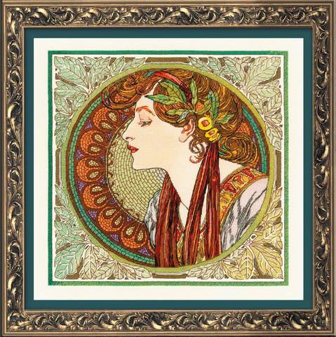Набор для вышивания RIOLIS PREMIUM ««Лавр»по мотивам произведения А.Мухи» (100/061)