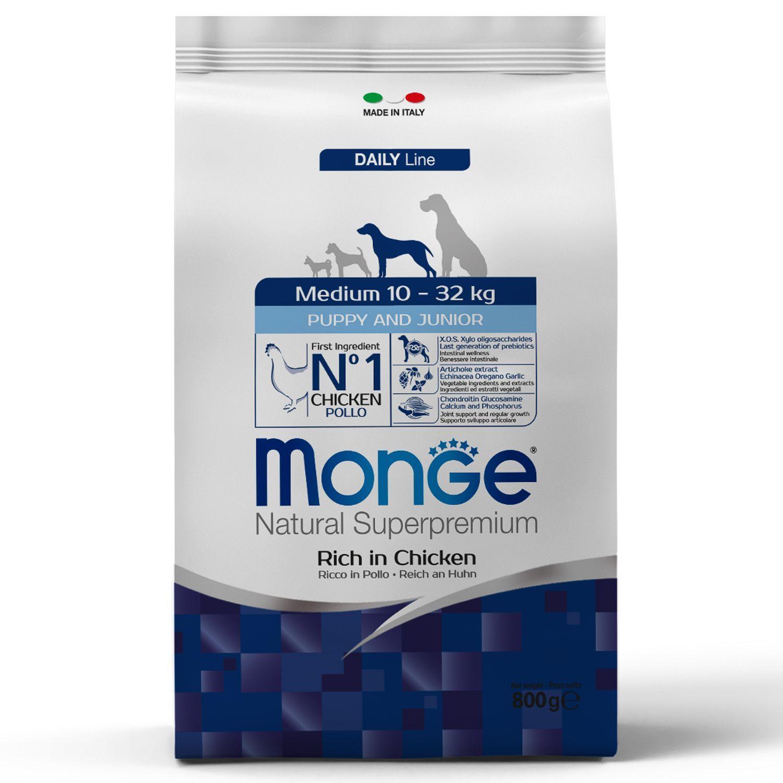 Сухой корм Корм для щенков средних пород Monge Dog Medium Puppy&Junior 70011655_1.jpeg