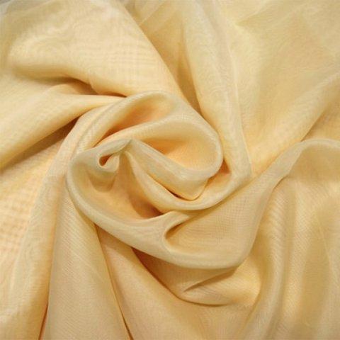 Ткань вуаль однотонная для штор светло-бежевая. Ш - 300 см. Арт. -SH 5