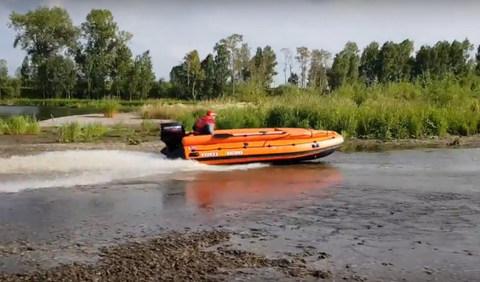 Лодка надувная моторная SOLAR 430 SUPER Jet тоннель