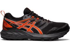 Непромокаемые кроссовки внедорожники Asics Gel Sonoma 6 G-TX Black-Marigold-Orange мужские