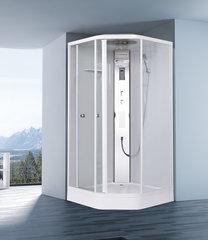 Душевая кабина Orans EW-112 100х100см. профиль белый, стекло прозрачное