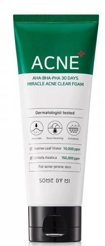 SOME BY MI Aha-Bha-Pha 30 Days Miracle Acne Clear Foam пенка для лица 100мл