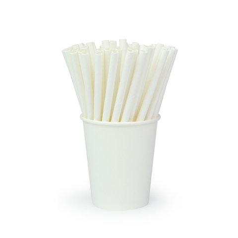 Трубочки для коктейлей «Белоснежная», 240*6 мм